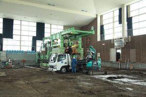 建物内の基礎工事